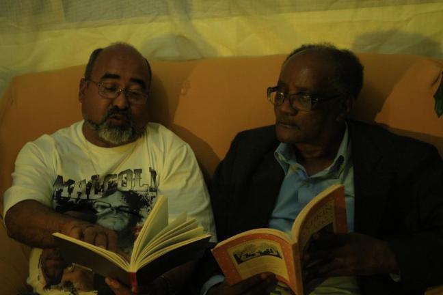 Abelardo Rodrigues e Oswaldo de Camargo: literatura afrocentrada (Foto: Leko Moraes)