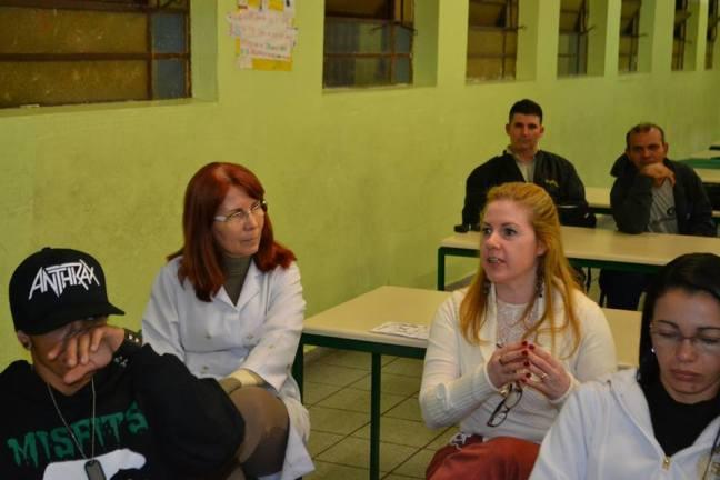 Professoras Eliana (Ciências) e Ruth (Português)