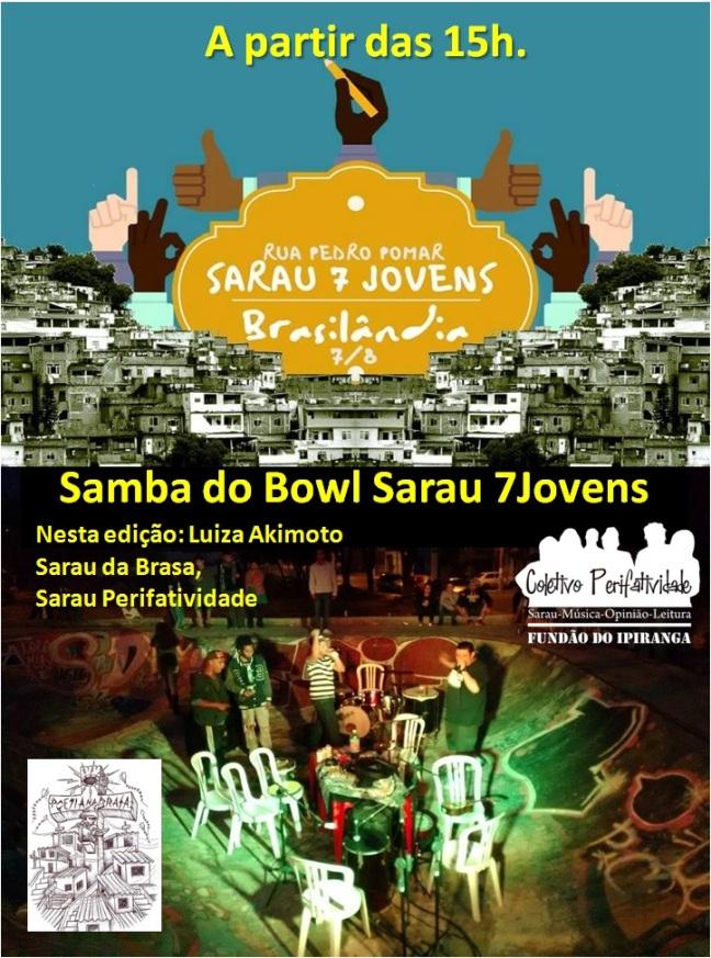 Sarau 7 jovens Brasilandia Agosto 2016